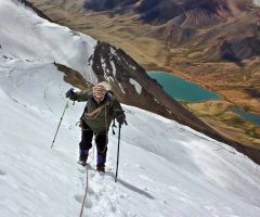 Climbing on  Manglik Sar 6050m near Shimshal valley