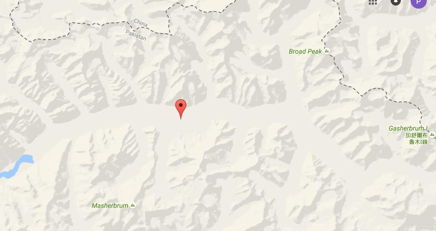 Pastore Peak Map