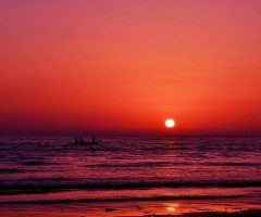 A beautiful sunset at Karachi Beach