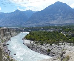A  beautiful view of Gilgit River