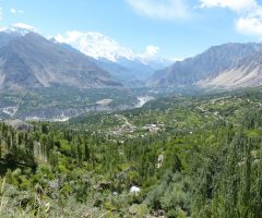 A  beautiful view of Hunza Valley