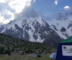 At Nanga Parbat Polish Base Camp