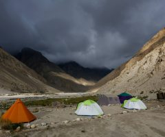 Camping at Bardumal during baltoro Trek