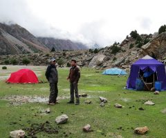Camping at Latobhu during Rupal Trek