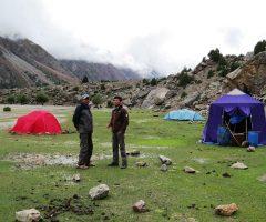 Camping at Latobhu during Rupal Trek
