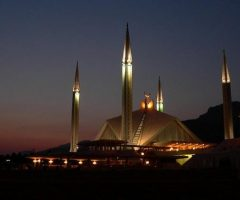Faisal Mosque Islamabad night View