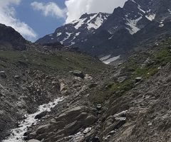Glacier just near to Shaigiri Base Camp