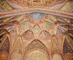 Inside Decoration of Khan mosque