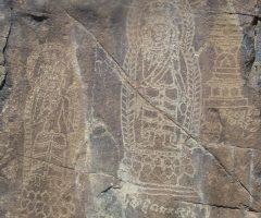 Rock carving near chilas