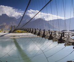 Suspension Bridge near Khaplu Valley in Gilgit-Baltistan