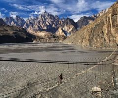 Suspension Bridge near  Passu Village