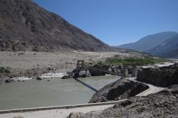 The mighty indus river near Chilas