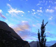 dawn at Hunza