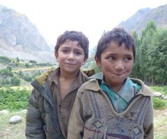 local kids in Hushe village
