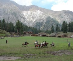 local people playing Polo at Fairy Meadows