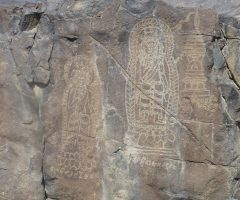 rock carving  at Chilas