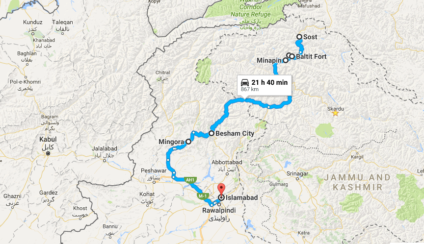 rakaposhi-via-khunjerab-map